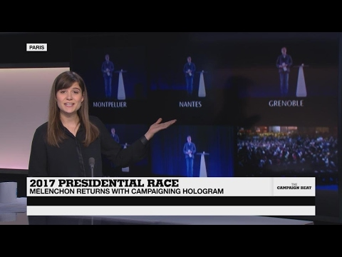 French far-left candidate Mélenchon in new hologram stunt