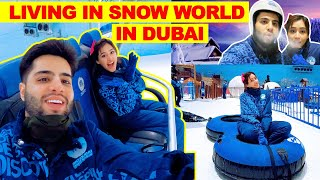 We did Scary Rides In Largest SNOW PARK in Dubai !! That Glam Couple