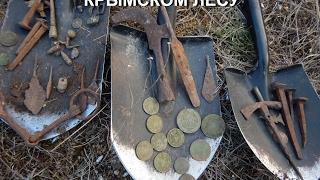 Мега удачный коп в Крымском лесу  Катькин кошель и много железа