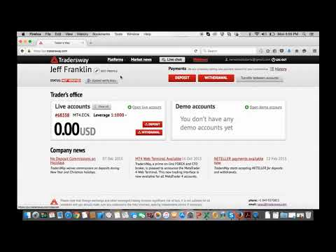 How To Open Up A Forex Brokers Account With Tradersway Youtube