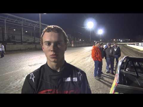 West Liberty Raceway IMCA Modified feature winner Cayden Carter