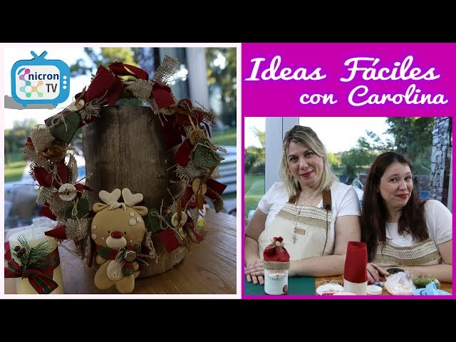 Ideas Fáciles NICRON TV Cómo hacer Rosca Navideña - Especial Navidad con amigas!