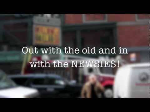 Disney's NEWSIES on Broadway - Lights Up on the Marquee