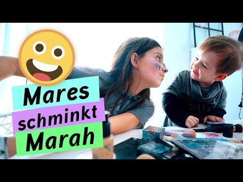 Das erste mal / Mares schminkt Marah / kinder_sein / frau_sein