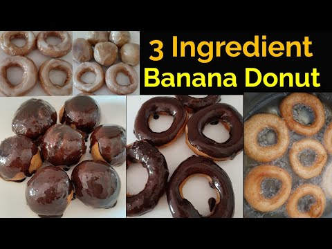 3 Ingredient GLAZED DONUT! | Banana Donut Recipe | LOCKDOWN!! Easy Banana Donut Recipe