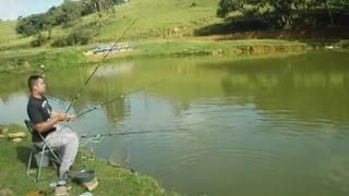 Aprenda pescar com vara de mão
