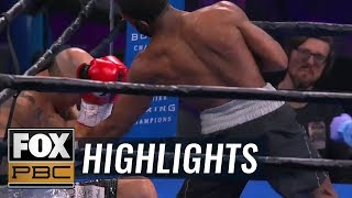 Justin Pauldo makes quick work of Eric Anton with 1st round KO | HIGHLIGHTS | PBC ON FOX
