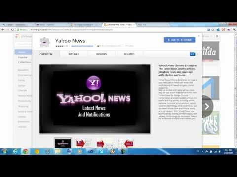 Yahoo News Chrome Extension