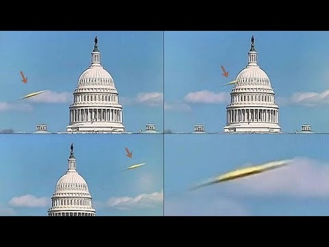 UFO flies in front of the Capitol Building in Washington liv