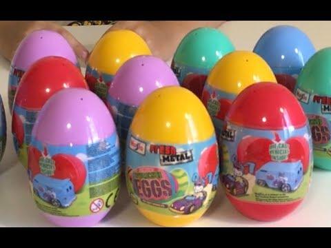 Открываем яйца с сюрпризом Машинки Тачки Unboxing Kids Eggs Welly Cars Surprise