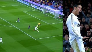 A burst of speed! goal! celebration! on april 21, 2012, cristiano ronaldo shatters fc barcelona into thousand pieces. it wasn't just down to his winnin...
