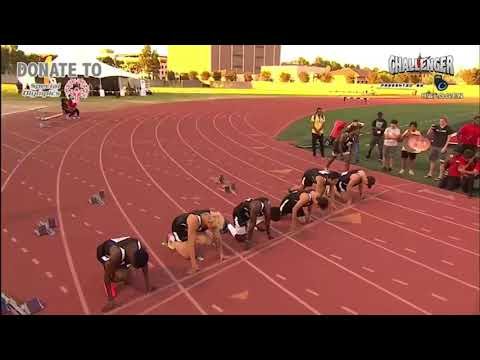 Complete 100 Meter final challenger games Jake Paul defeated by Deestroying
