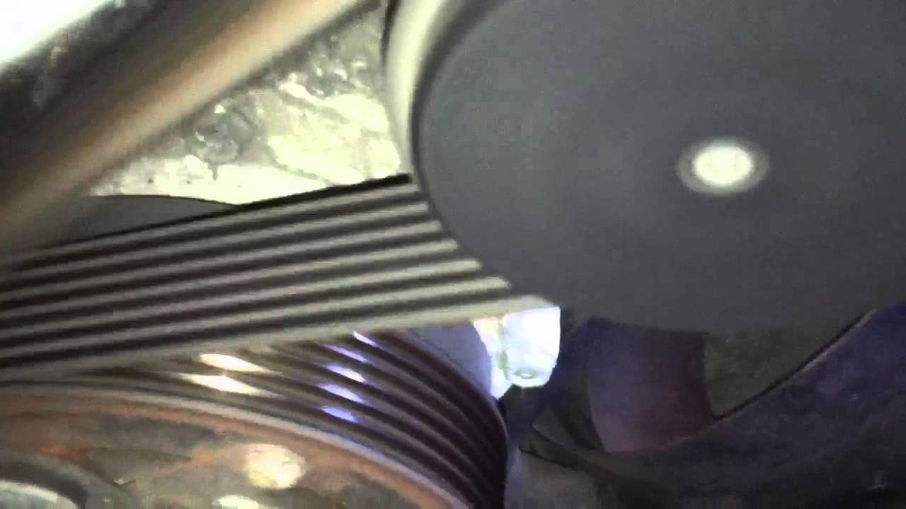 Serpentine belt tensioner 2004 PD TDI VW Golf - YouTube