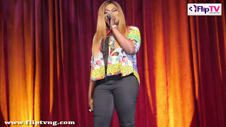 FUNKE AKINDELE BELLO TELLS HER SUCCESS STORY AT LAGOS LAUGHS COMEDY SHOW