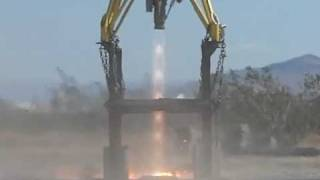 Masten Space B-750 rocket engine test