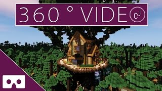 Forest Treehouse Minecraft VR 360° thumbnail