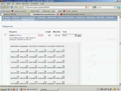 Un paseo por una proteína de la base de datos UniProt (Parte 1 de 2)