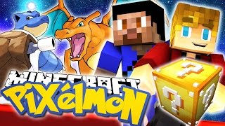 Minecraft Lucky Block *New* Pixelmon Challenge w/Lachlan & Vikk