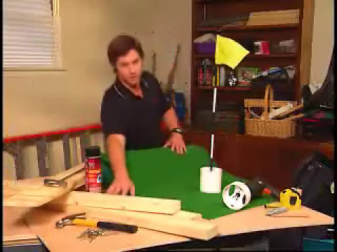 Indoor Putting Green 3M Super77 Project - YouTube