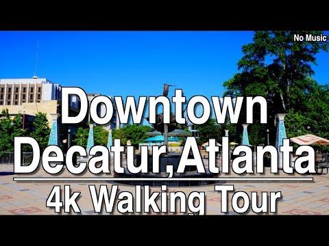Walking Tour of Downtown Decatur Atlanta | 4K Dji Osmo | No Music