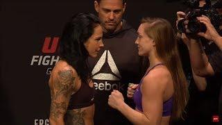 Aspen Ladd vs. Lina Lansberg - UFC Gdansk Weigh-Ins Staredown