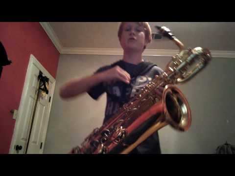 Iron Man on Bari sax the easy way for beginners
