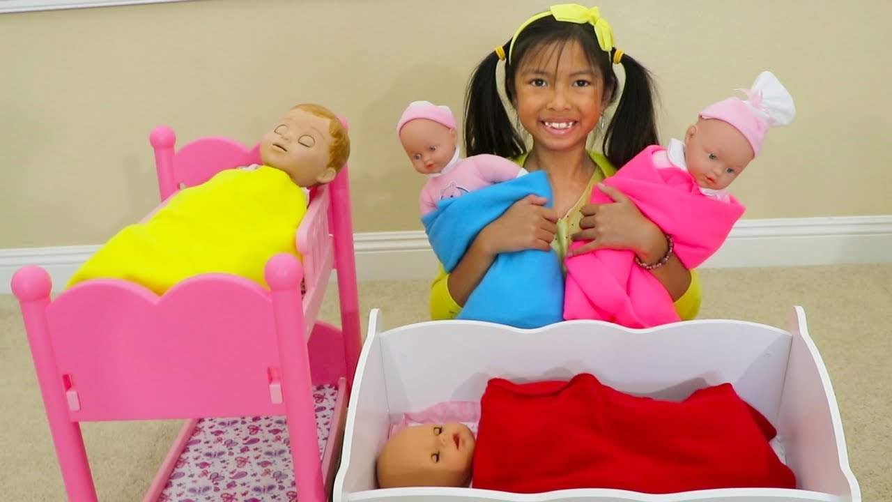 Download Wendy Pretend Play Baby Bedtime w/ Cute Girl Baby Dolls Toys