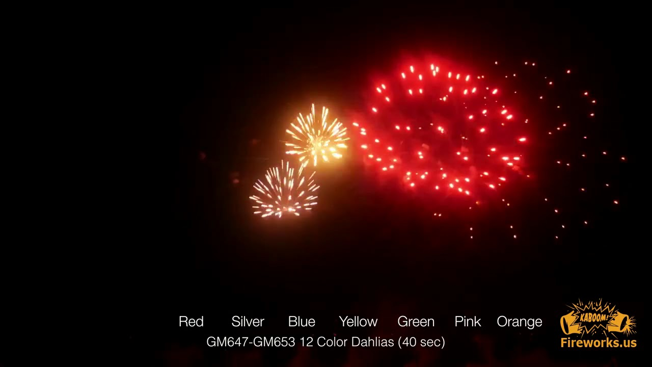 bf7acc3f27254f Color Dahlias 500 Gram Fireworks Cakes 76 Pro Line - YouTube