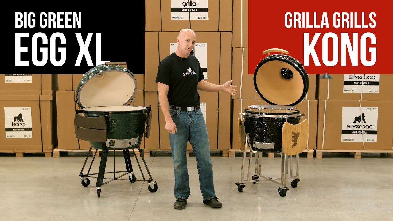 Big Green Egg XL vs Grilla Grills Kong: Ceramic Kamado Smokers Comparison