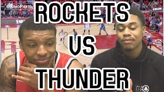 WESTBROOK LOSES AGAIN!! THUNDER VS ROCKETS GAME 2 2017 FULL HIGHLIGHTS AND REACTION!