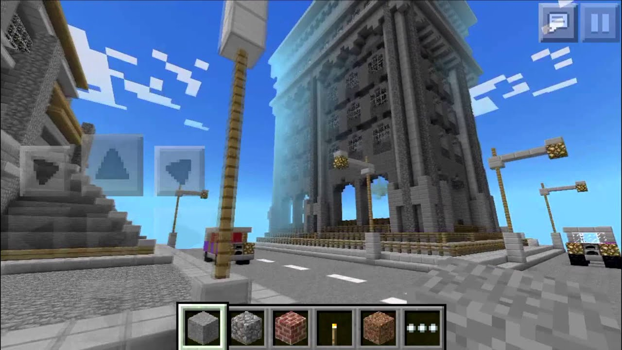 Minecraft PE Map Review Giant City Survival Games YouTube - Minecraft city spiele