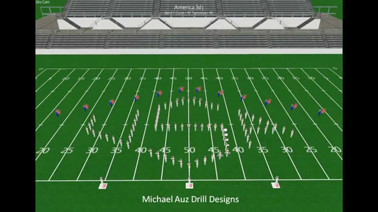 Salute to America's Finest Marching Band Drill Design