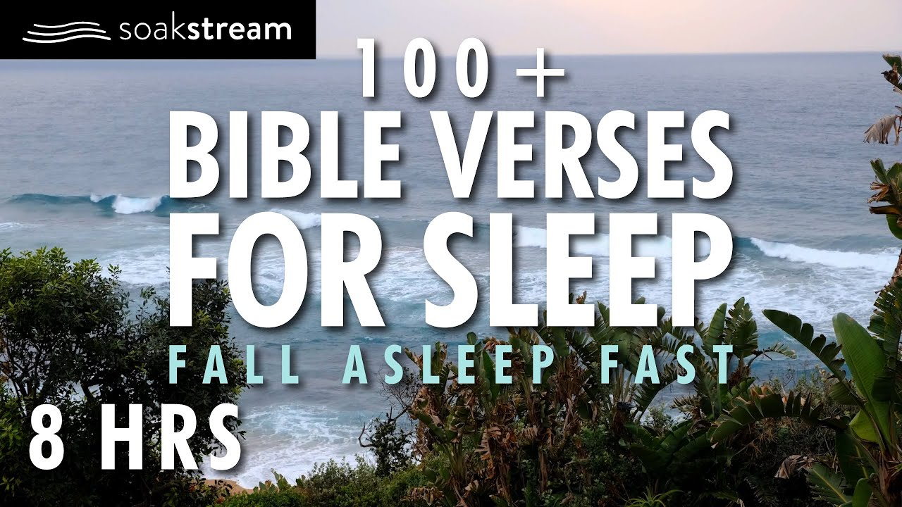 SPENDING TIME WITH JESUS BY THE OCEAN | 100+ Bible Verses For Sleep | Ocean Waves Sounds