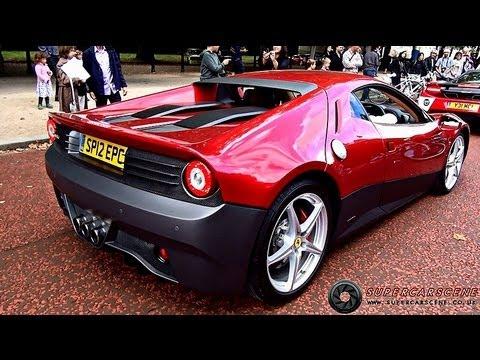 Eric Clapton's £3MILLION Ferrari SP12 EC on the road!!