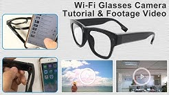 WiFi Glasses Spy Video Camera Tutorial and footage Video-AI-G03 Aishine Security