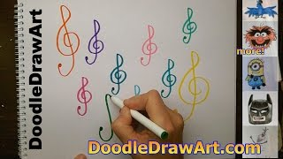 How to Draw a Treble Clef Step by Step | G clef | The Easiest Way!