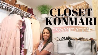 CLOSET ORGANIZATION & KONMARI 2019 | ULTIMATE KONMARI DECLUTTER + CLOSET MAKEOVER | CRISSY MARIE