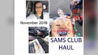 SAMS CLUB GROCERY HAUL | November 2018
