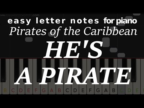 ☻ HOW TO PLAY Pirates of the Caribbean - He's Pirate - letter notes + tutorial ☻