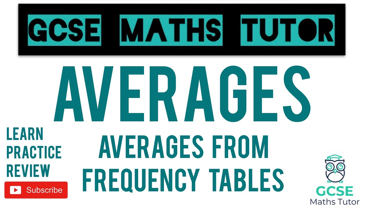 Download How to Work Out ALL of the Averages from Frequency Tables | Grade 5 Series | GCSE Maths Tutor