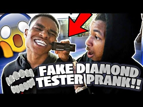 Testing YBN Almighty Jay's $30,000 Diamond Grill With A FAKE DIAMOND TESTER! 💎😂*didn't end well*