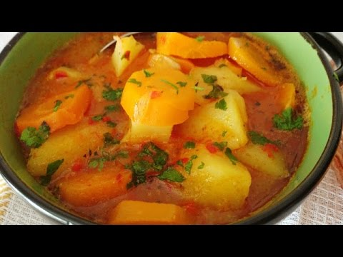 Bakina kuhinja - prelep posni krompir paprikaš (Tasteful lenten potato stew with spices)