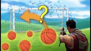 Can You Score a Basketball On a Soccer Net in Fortnite?   Fortnite Basketball Duplication Glitch!