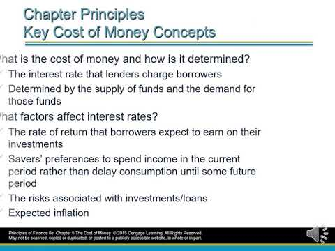 Chapter 5 The Cost Of Money Interest Rates