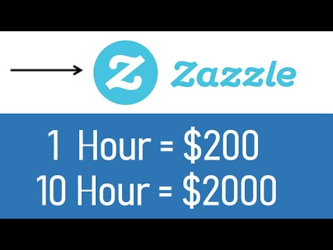 *NEW* Earn $2000+ From Zazzle ($200/Hour) FREE Make Money Online   Branson Tay