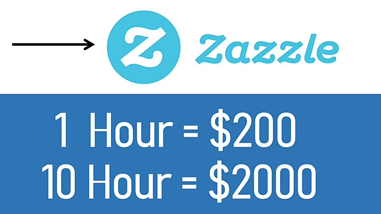 Earn $2000+ From Zazzle ($200/Hour) FREE Make Money Online