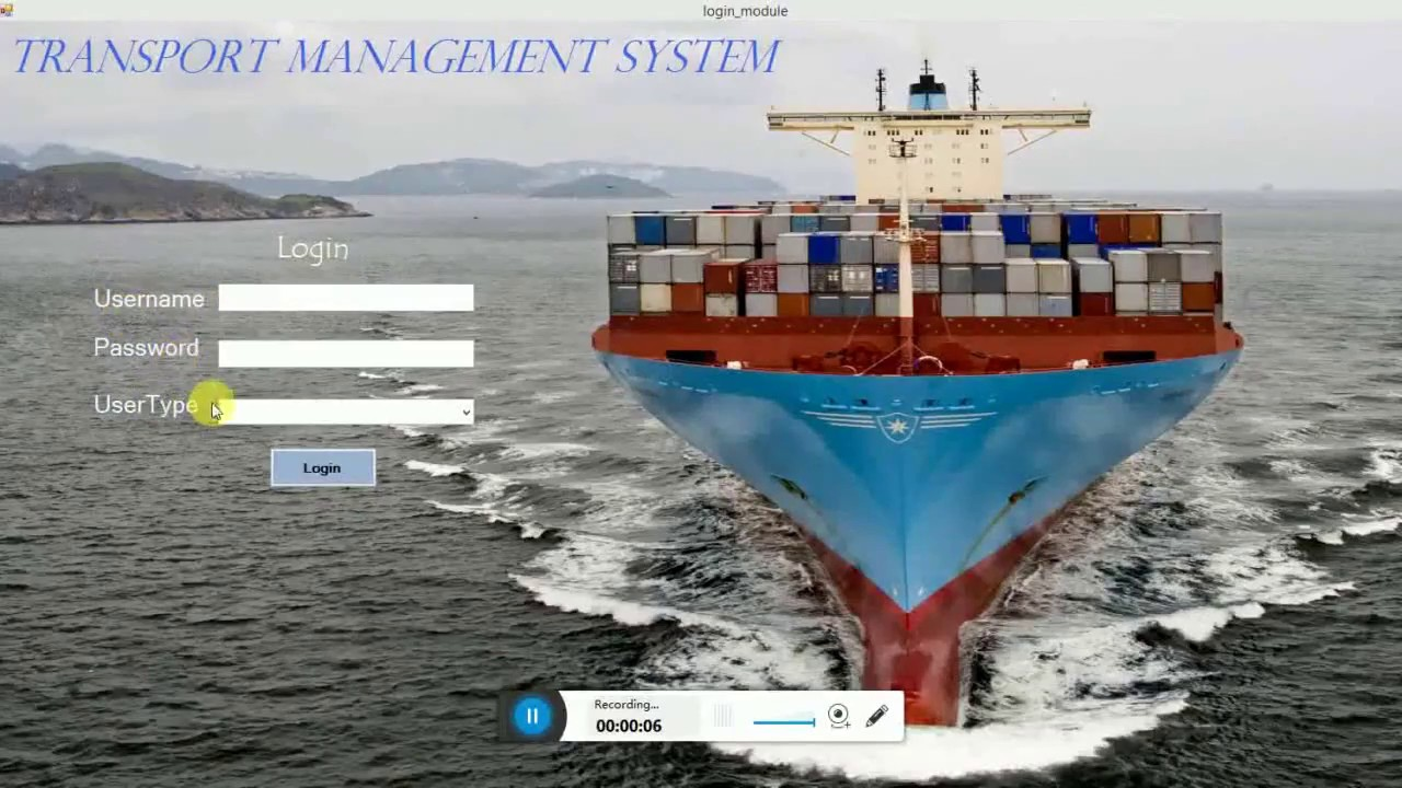 transport management system project in vb net(shipping Management System)