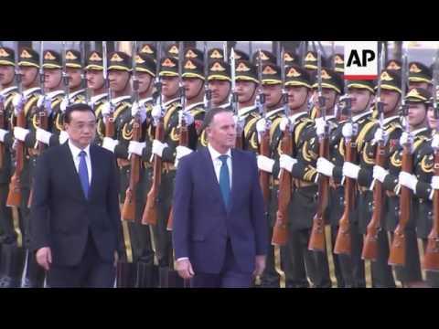 NZealand PM John Key Meets Chinese Counterpart