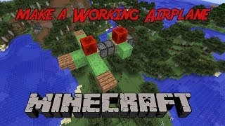 How to make an Airplane in Minecraft that actually flys! Easy (slimeblocks)