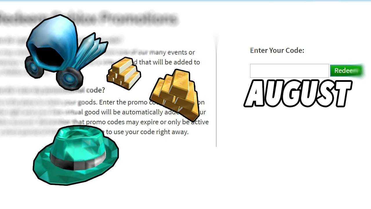 *August* ALL WORKING PROMO CODES ON ROBLOX 2019